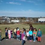 Blick auf das Schulzentrum